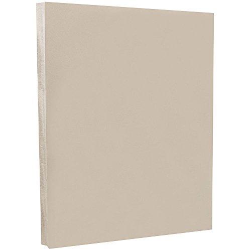 (JAM PAPER Vellum Bristol 67lb Cardstock - 8.5 x 11 Coverstock - Grey - 50 Sheets/Pack)