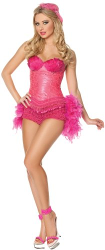 Mystery House Flamingo Showgirl Costume, Pink, X-Large