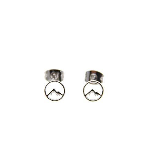 Pura Vida Silver Sierra Stud Earring Set - Brass Base w/Rhodium Coated Plating from Pura Vida