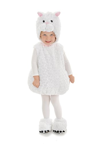 Underwraps Baby's Cat Belly, White, Large (White Cat Costume Child)