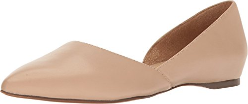 Naturalizer Women's Samantha Pointed Toe Flat, Taupe, 7.5 M US