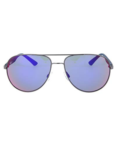 (Puma Flexstyle V2 PU 0007S 0007/S 004 Ruthenium/Blue Aviator Sunglasses 59mm)