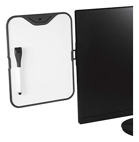3M Computer Monitor Whiteboard, Detachable Panel with Magnetic Dry Erase Surface, To Do List, Document Holder, Command Adhesive included 8.5