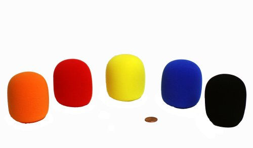 Tetra-Teknica DFFZ5P Ball Type Handheld Microphone Windscreen, Mixed Color, 5-Pack (Mic Windscreen Foam)