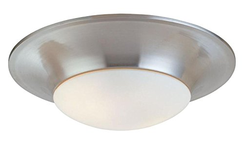 Two Light Nickel Bowl Flush Mount - Sonneman Trumpet