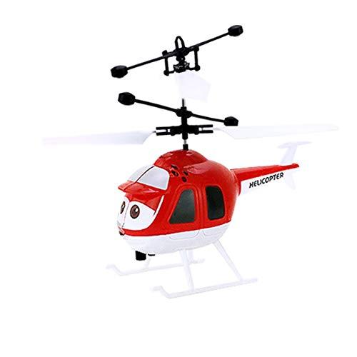 ミニRC赤外線誘導ヘリコプターとフラッシュライトUSB充電インテリジェント誘導航空機のおもちゃ(:赤)