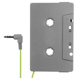 E FILLIATE AUX In Cassette Adapter for Universal SmartPhones - Gray/Green