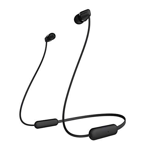 Sony Wi-C200B Draadloze In-Oordopjes, Accuduur 15 Uur, Voice Assistent, Magnetische Oordopjes, Geïntegreerde Headset…
