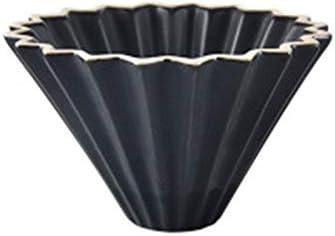 Over Coffee Dripper Ceramics Origami Style Filtro Copa Café Dripper Cafetera Verter Over Brewer para 1-2 tazas Filtro de papel Café Dripper: Amazon.es: Hogar