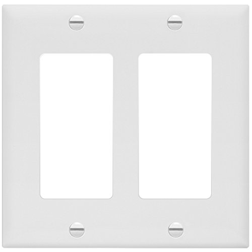 Enerlites 8832-W-10PCS Decorator Light Switch/Receptacle Outlet Wall Plate, Standard Size 2-Gang, Polycarbonate Thermoplastic,White (10 Pack) by Enerlites (Image #8)