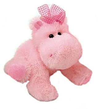Russ Berrie Darly - Hipopótamo de peluche (23 cm), color rosa