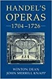 img - for Handel's Operas 1704-1726 book / textbook / text book