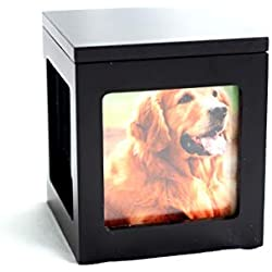 Heavenly Home Pet Keepsake Multiple Photo Cube Pet Urn for 1 to 4 Pictures Cremation Memorial for Pet Lovers Acrylic Glass Photo Protector Resting Place for Cat or Dog (15 Cubic Inches)