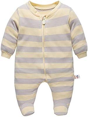 Recién nacido Pijama Niños Pelele Manga Larga Algodón Mameluco ...