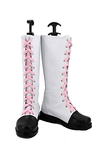 Veribuy Halloween Adult Women Cosplay Shoes Costume White Cosplay Boots -