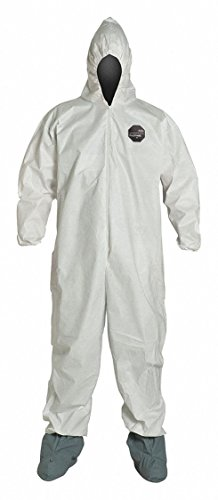 Proshield Nexgen Coveralls (DuPont NG122SWH3X002500 3X White Safespec 2.0 10 mil ProShield NexGen Disposable Coveralls With Front Zipper Closure (25 Per Case))