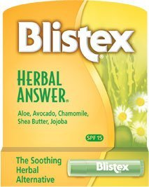 Blistex Herbal Answer Lip Protectant/Sunscreen, SPF 15, .15-Ounce Tubes by Blistex