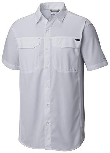 Columbia Men's Silver Ridge Lite Short Sleeve Shirt, White, - Mens Life Short Sleeve