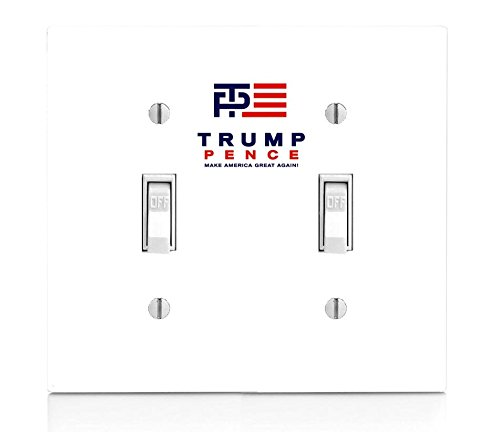 Trump Pence Print Double Light Switch Plate