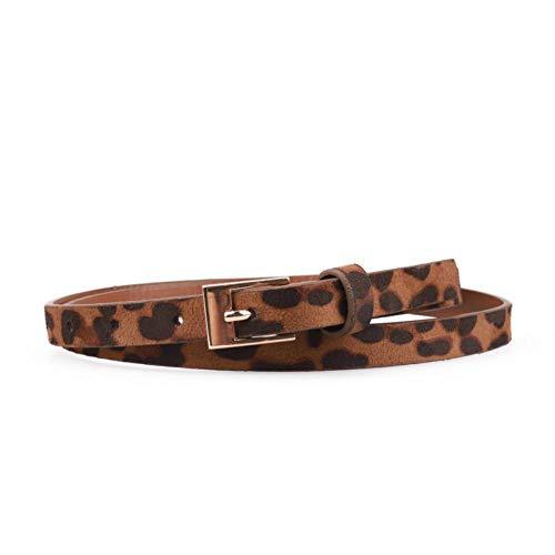 VOCHIC Ladies Velvet Fashion Leopard Skinny Animal Print Waist Belt for Womens Jeans Pants Dresses Thin Waistband ()