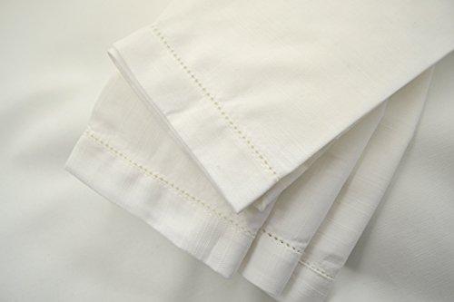 Hemstitch Dinner Napkins White 1 Dozen by Something Different Linen Something Different For Christmas Dinner