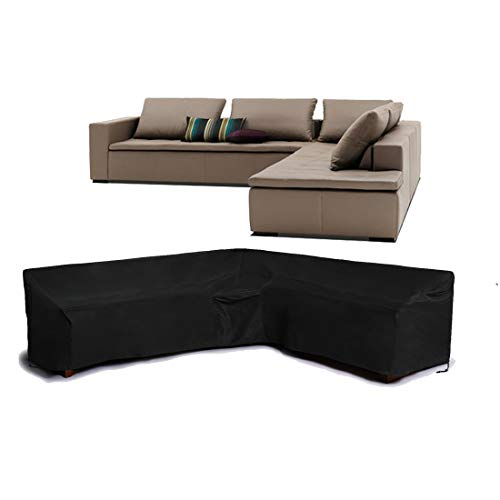 FLR Patio Furniture Cover 112x87inches Right Facing L-Shaped Sectional Sofa Cover Waterproof Dustproof Furniture…