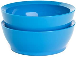 product image for Calibowl Non-Spill Low Profile Bowls with Non-Slip Base, 12-Ounce, Light Blue, Set of 2