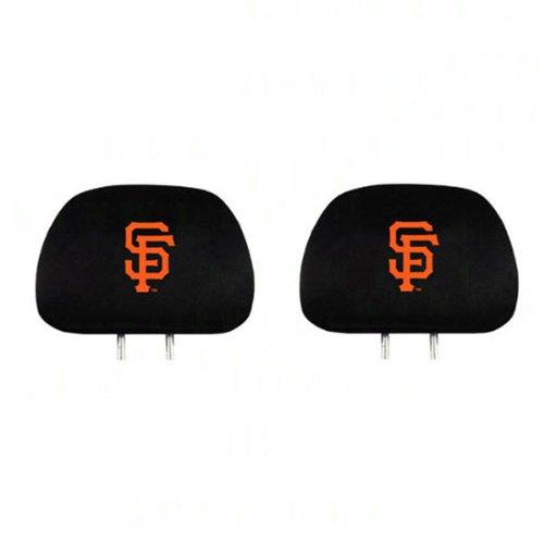 (Pair of MLB Car Headrest Covers - San Francisco Giants)