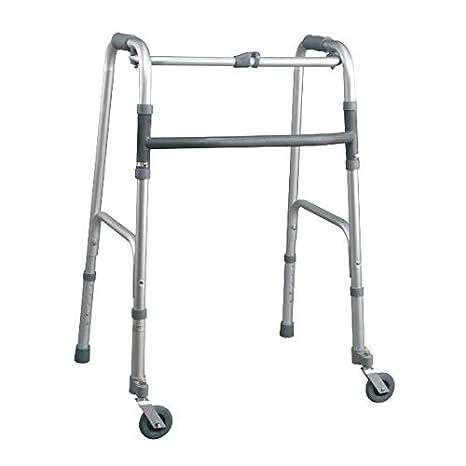 MOPEDIA-deambulatore plegable 2 ruedas y 2 topes piroettanti ...