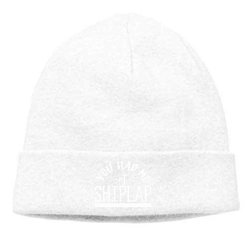 c1198d609 You Had Me at Shiplap Warm Stretchy Solid Daily Skull Cap Knit Wool Beanie  Hat Outdoor Winter White