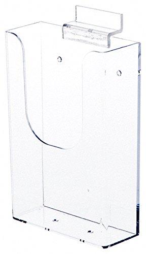 Plymor Clear Acrylic Slatwall Mount Tri-Fold Brochure Literature Holder, 4.5