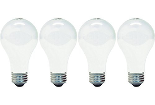 GE Lighting 66249 Soft White 72-Watt, 1270 Lumen A19 Light Bulb with Medium Base, 4-Pack