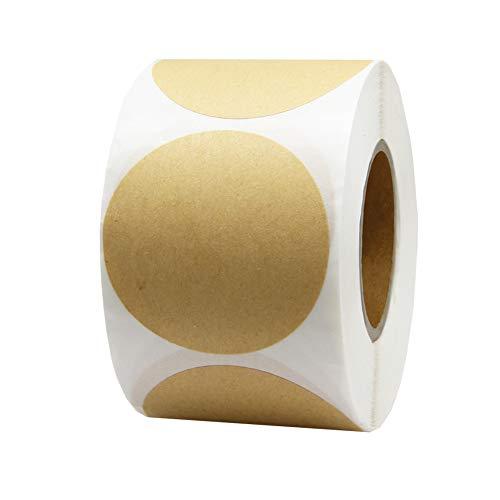 2 circle kraft paper dots