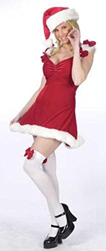 Sexy Red Elf Christmas Costume - Women's Size Medium/Large (10-14)