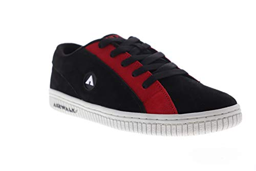 Airwalk The One Chance Mens Black Suede Athletic Lace Up Skate Shoes 9