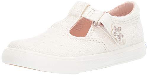 Keds Girls' Daphne Sneaker, White Eyelet, 050 Medium US Toddler