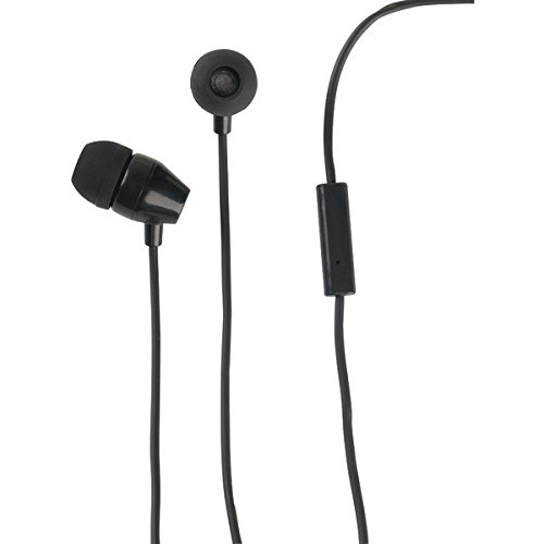 RCA HP159MICBK Noise Isolating Earbuds with in-line Microphone ()