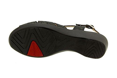Carbón zapato mujer Calzado cómodo 8555 Piesanto ancho sandalia confort de piel cuña Rxxq1g