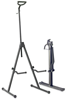 Stagg SV-CE Adjustable Foldable Stand for Cello with Hook for Bow - Black from Stagg