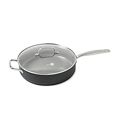 """GreenPan Chatham 11"""" ceramic Non-Stick Covered Everyday Pan with 2 Helpers, Grey"""