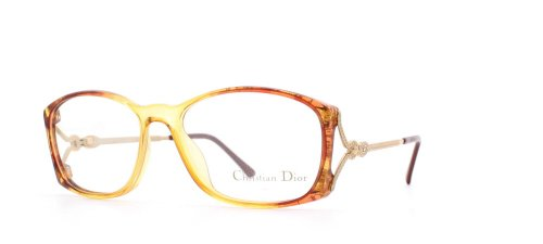 Christian Dior 2632 31 Yellow and Brown Authentic Women Vintage Eyeglasses - Frames Dior Glasses 2014