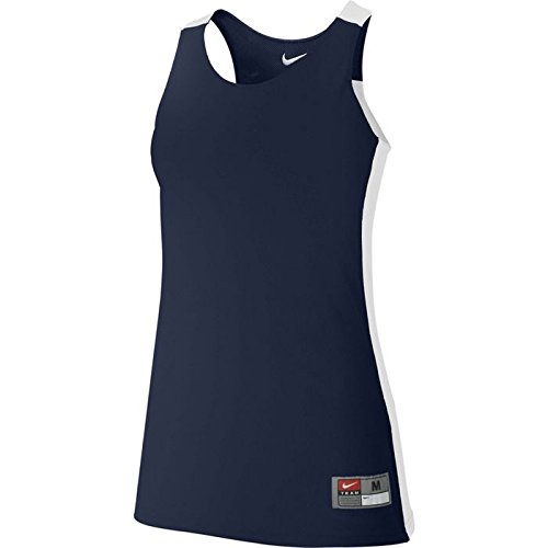 Nike Reversible Basketball League Tank Large Practice Jersey Womens NK095 Navy, White