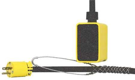 KH Industries PP4DD-515-B12F-515 Alcryn Pendant Drop Outlet Box with Four Receptacles, 15 Amp, 125V AC, 25' Cord