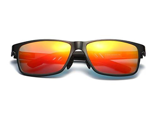 de sol Hombre Rojo Mg Ligero Marco REDPEONY Super Negro Moda Al Metal gafas polarizadas FIdwqxtw