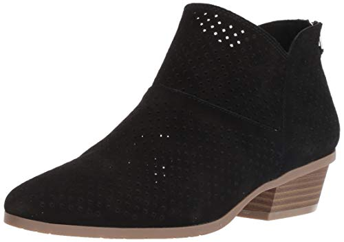 Kenneth Cole REACTION Women's Side Walk Perf Ankle Bootie Boot, Black, 7.5 M US