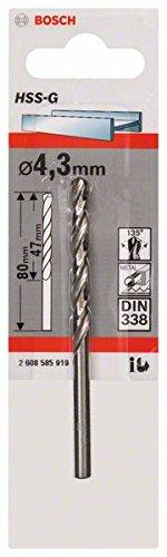 Bosch Professional Metallbohrer HSS-G geschliffen (Ø 4, 3 mm) 2608585919