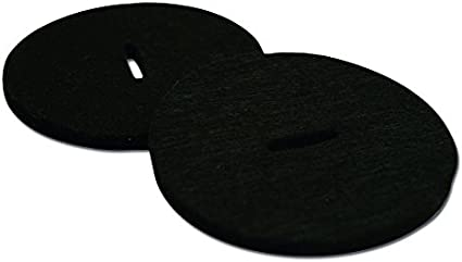 Zildjian Leather Pads Black//Gold Logo for Marching//Hand Crash Cymbals Pair