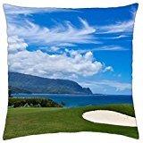 Bali Hai Golf Course - Princeville Kauai North Shore Hawaii - Throw Pillow Cover Case (18 (Course Golf Shores)
