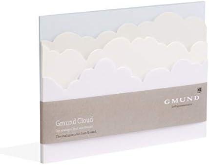 Gmund Papier Notizblock 36 Blatt gestanzt (Cloud 21,2 x 14,8 cm, 14,8 x 21 cm)