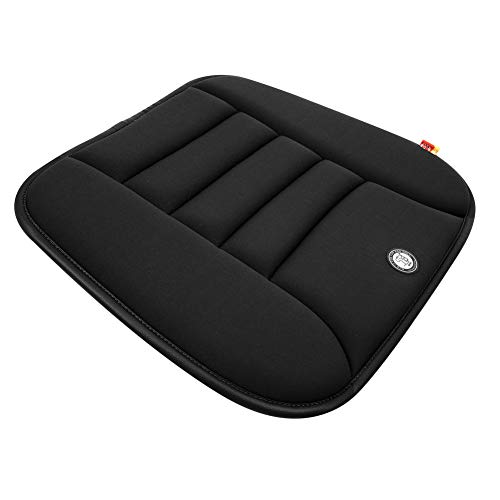 Memory Foam Seat Cushion for Car Driver Seat Office Chair Home Use Non-slip (Black Color) ()